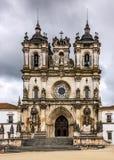 De kerk van het Alcobacaklooster, Alcobaca, Portugal Stock Foto