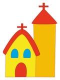 De kerk van het beeldverhaal stock illustratie