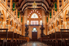 De kerk van het christendom in Thailand royalty-vrije stock afbeelding