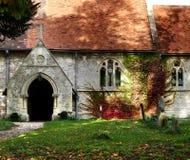 De Kerk van het dorp stock afbeelding