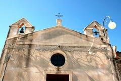 De kerk van het dorp in Siciliy royalty-vrije stock afbeelding