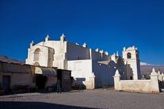 De Kerk van het Dorp van Maca Royalty-vrije Stock Foto's