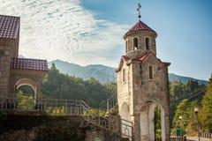 De kerk van het Geargiandorp in Adjara Royalty-vrije Stock Afbeeldingen