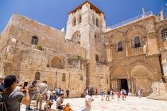 De Kerk van het Heilige Grafgewelf, Jeruzalem stock afbeelding