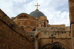 De Kerk van het Heilige Grafgewelf Jeruzalem israël Royalty-vrije Stock Fotografie