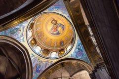 De Kerk van het Heilige Grafgewelf, ook genoemd de Kerk van de Verrijzenis is één van de heiligste plaatsen in de Christen royalty-vrije stock fotografie