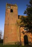 De kerk van het het zadeldak van Frisian Stock Afbeelding