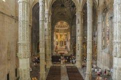 De kerk van het Jeronimosklooster, Lissabon, Portugal Royalty-vrije Stock Afbeelding