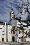 De kerk van het kasteel in Salzburg Royalty-vrije Stock Foto