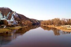 De Kerk van het klooster Svyatogorsk, de Oekraïne Stock Foto's