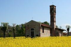 De kerk van het land Stock Afbeeldingen