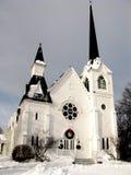 De Kerk van het land in de Winter Stock Afbeelding
