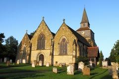 De kerk van het land, Surrey, het UK stock afbeelding