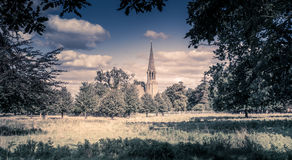De kerk van het land in Warwickshire, Engeland stock foto
