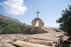 De kerk van het platteland stock fotografie