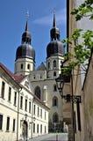 De kerk van het Saint Nicolas in Trnava Stock Foto
