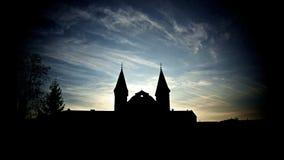 De kerk van het silhouet Stock Foto