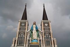 De kerk van het standbeeld Royalty-vrije Stock Afbeelding