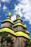 De kerk van het Zarubincydorp, stock foto