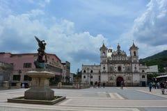 De kerk van Iglesiagr Calvario in Tegucigalpa, Honduras Royalty-vrije Stock Afbeelding
