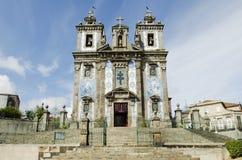 De kerk van Ildefonso van Santo in porto Portugal royalty-vrije stock fotografie