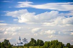 De kerk van Ioann Zlatoust in Godenovo Royalty-vrije Stock Fotografie