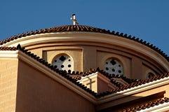 De kerk van Jachthaven Agia Stock Fotografie