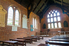 De Kerk van Jamestown - Binnenland stock foto