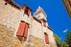 De kerk van Kastelstafilic en oriëntatiepuntenmening Royalty-vrije Stock Fotografie