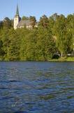 De Kerk van Kolbotn in Noorwegen Stock Foto