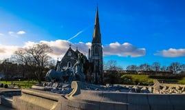 De Kerk van Kopenhagen Heilige Albans Stock Foto