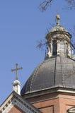 De kerk van Krakau en cross2 Stock Foto's