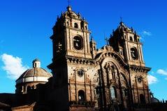 De Kerk van La Compañía in Cusco Royalty-vrije Stock Afbeelding