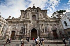 De kerk van La Compania in Quito, Ecuador Royalty-vrije Stock Foto