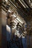 De kerk van La Compania in Quito, Ecuador Stock Afbeelding