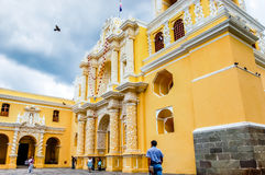 De Kerk van La Merced, Antigua, Guatemala Royalty-vrije Stock Fotografie