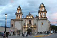 De Kerk van La Recoleta, Cajamarca, Peru Stock Foto's
