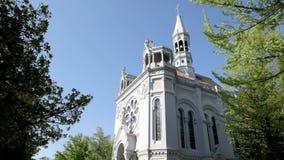 De kerk van La Salette stock videobeelden