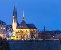 De kerk van Luxemburg stock fotografie