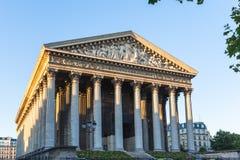De kerk van Madeleine in Parijs Stock Afbeelding