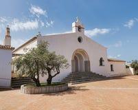 De kerk van Marinella in Sardinige Stock Afbeeldingen