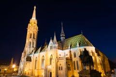 De kerk van Matthias in Boedapest, Hongarije Stock Foto