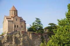 De kerk van Metekhi Royalty-vrije Stock Foto's