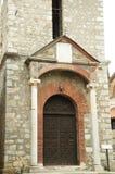 De kerk van Moeder Bogorodica Perivlepta overheerst oude Ohrid stock afbeelding