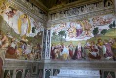 De kerk van Monti van Trinitadei, Rome, Italië Royalty-vrije Stock Fotografie