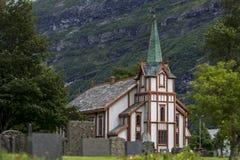 De kerk van Norwaigian Stock Afbeeldingen
