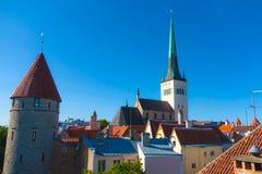 De kerk van Oleviste royalty-vrije stock foto