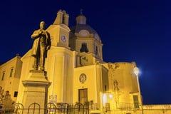 De Kerk van onze Dame Grace in Procida stock foto's