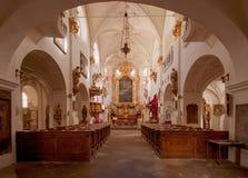 De kerk van Onze Dame onder de Ketting, Praag Stock Afbeeldingen