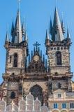 De Kerk van Onze Dame vóór Tyn stock foto